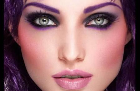 Maquillage des yeux violet 11